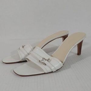 Burberry Slide on Buckle Heeled Sandals sz 39